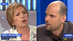 Celia Villalobos y Adrià Alsina en Espejo público.
