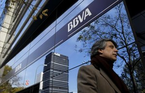 Oficinas del BBVA en Madrid.