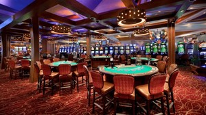 El casino de un hotel Hard Rock en Florida.