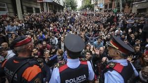 La Escola Tabor de Barcelona, el día del referéndum del 1-O
