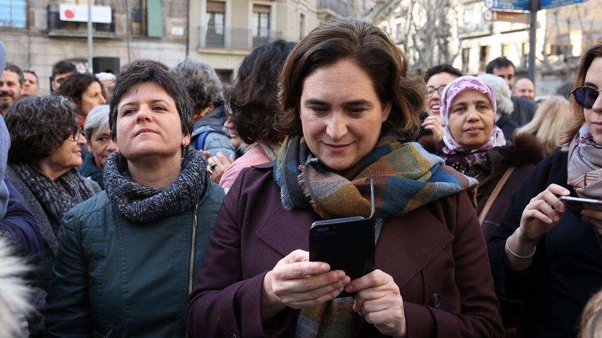 Colau y Pin, en enero del 2108 en Barcelona.