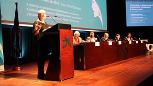 Intervención de Julie Ward en el congreso de mujeres gitanas.