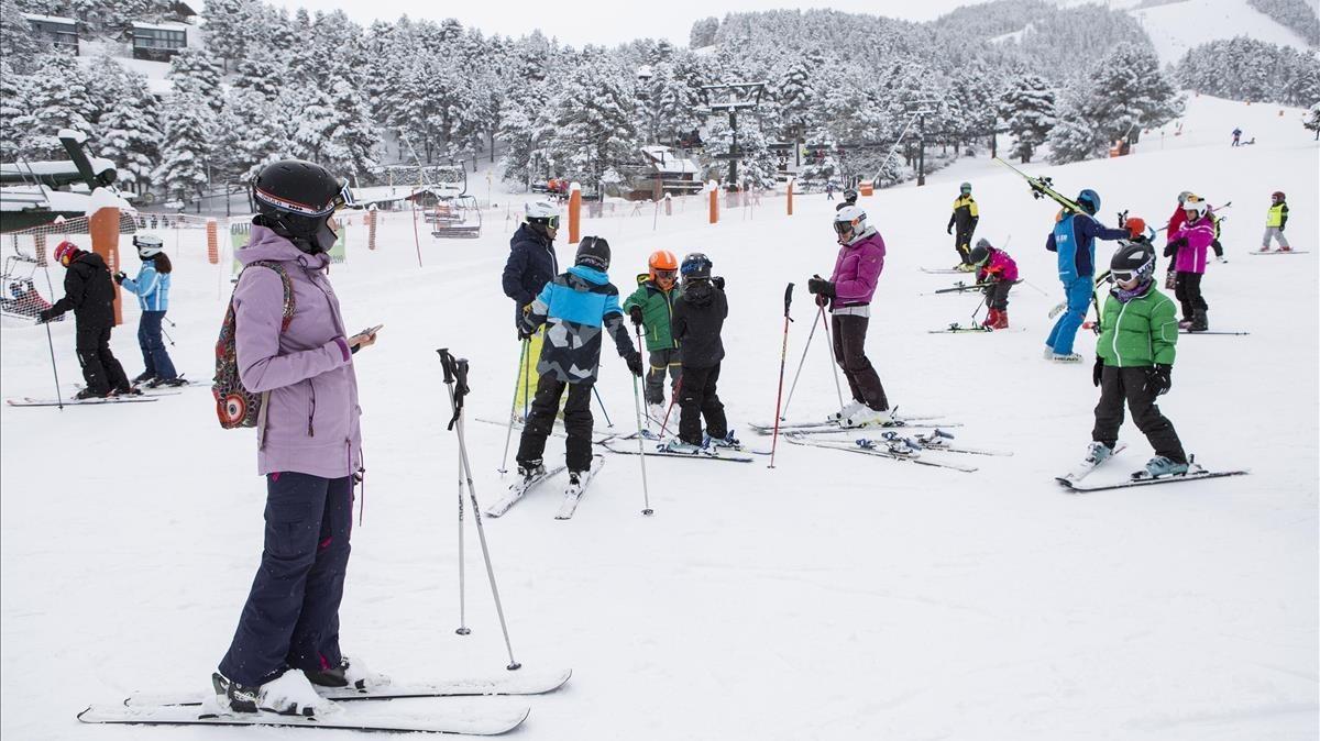 La Molina, este domingo. La Cerdanya es uno de los destinos de nieve por excelencia durante la Semana Santa.