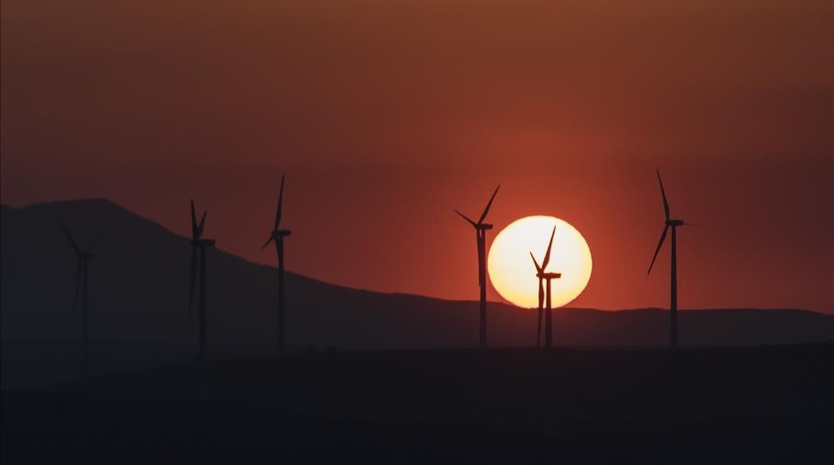 Parque eólico en Valencia.
