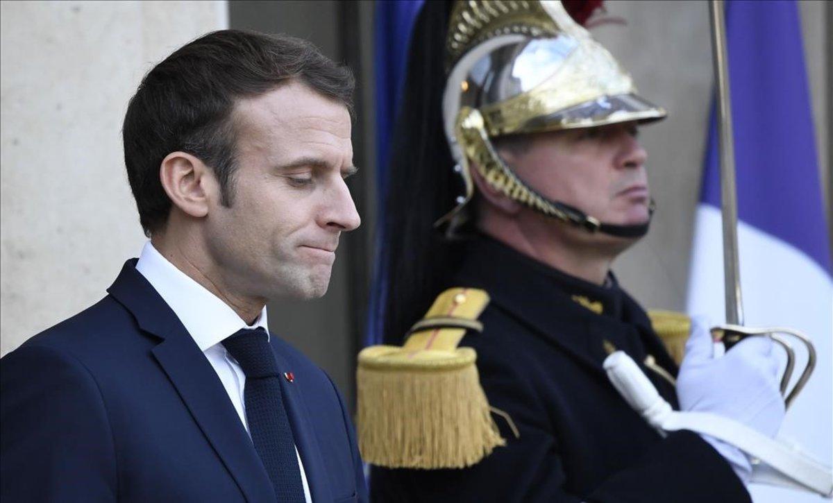Emmanuel Macron, en el palacio del Elíseo.