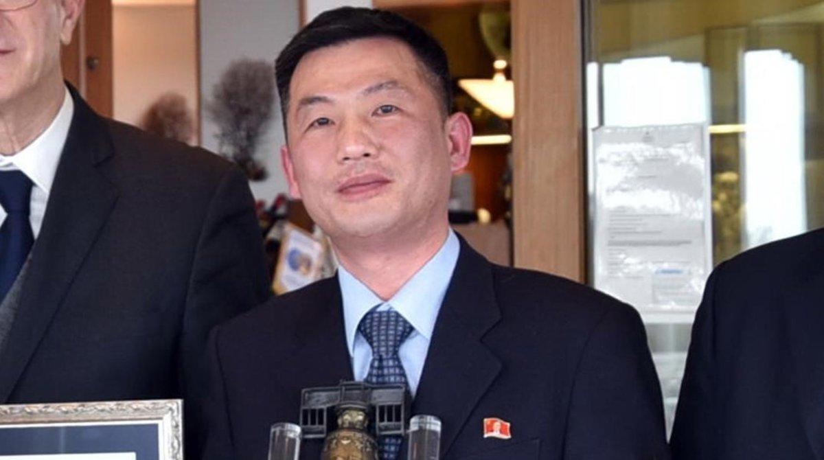 El diplomático norcoreanoJo Song-gil, durante un acto institucional celebrado en Italia en el 2018.