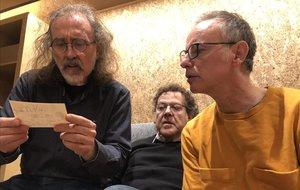Joan Reig, Lluís Gavaldà y Falin Cáceres, integrantes de Els Pets.
