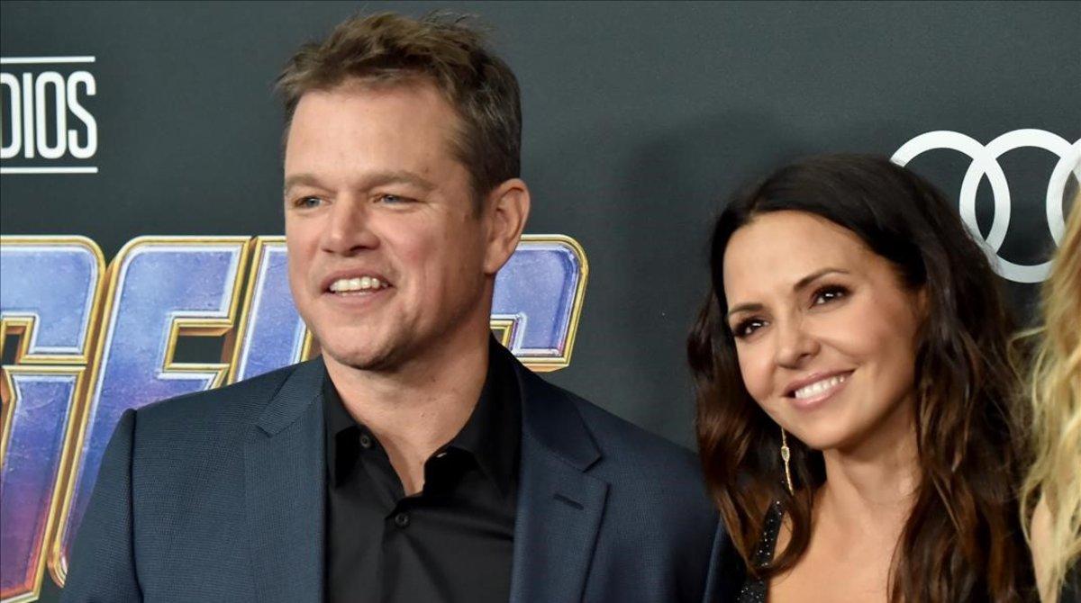 Matt Damon y su esposa, Luciana.