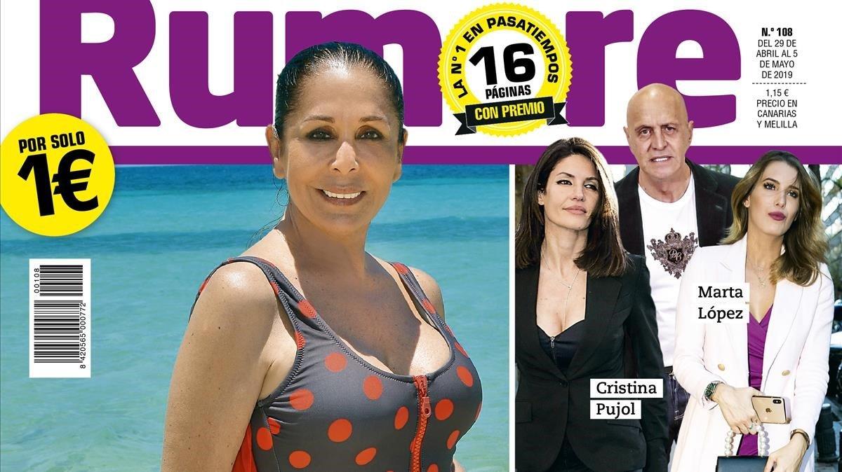 Detalle de la portada de esta semana de la revista Rumore.