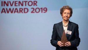 Margarita Salas, en la entrega del Premio Inventor del Año 2019.