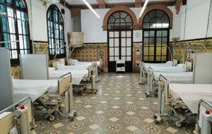 Coronavirus: L'Hospital de Sant Pau habilita la seva antiga escola d'infermeria
