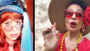 Daniela Barcellona (izquierda) y Davinia Rodríguez, cada una en su casa, interpretandoun dúo de 'Alienati' .