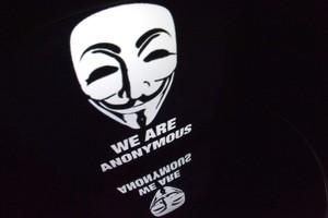 El logo del colectivo Anonymous.