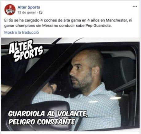 mensaje pagado por el FC Barcelona contra Guardiola