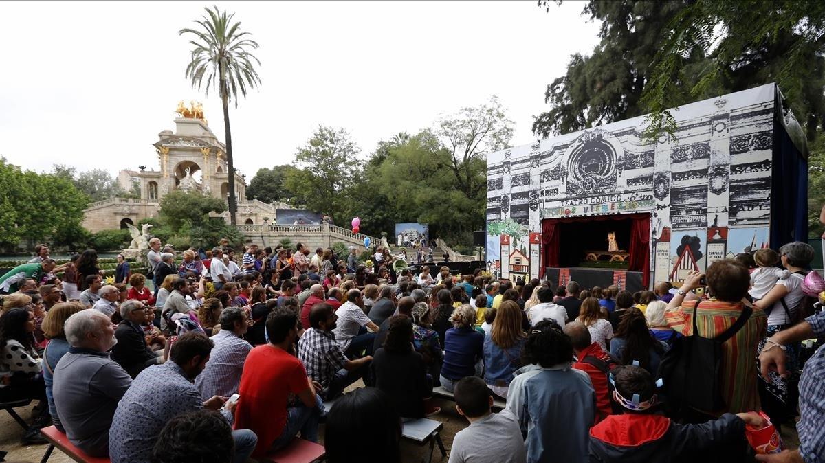 Espectáculo en la Ciutadella en 2014.