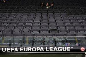 Vista del estadio del Eintracht alemán vacío este jueves en el partido de Europa League ante el Basilea.