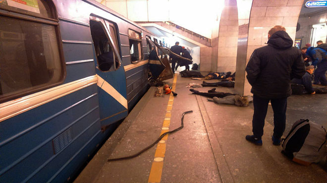 Almenys 10 morts, i més de 22 ferits, en l'atemptat al metro de Sant Petersburg.