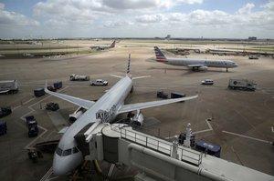 Aviones deAmerican Airlinesen el aeropuerto de Dallas.