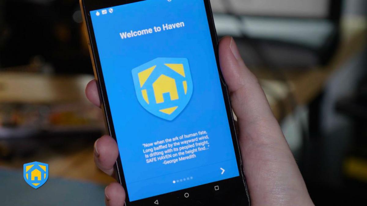 La app Haven, que convierte el teléfono en un detector de intrusos.