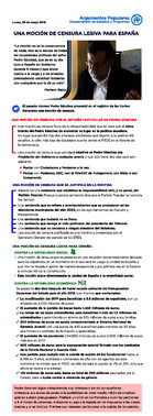 Argumentario para cargos del PPsobre la moción de censura a Mariano Rajoy.