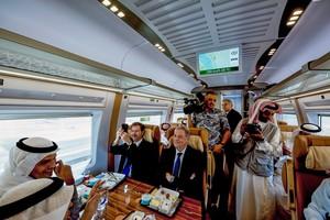 Viaje inaugural del AVE entre Medina y La Meca.