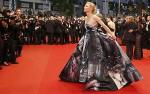 Cate Blanchett, en la alfombra roja en la presentación de 'Carol', en Cannes, este domingo.
