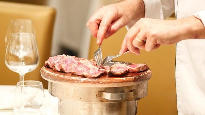Carne del restaurante Can Xurrades.