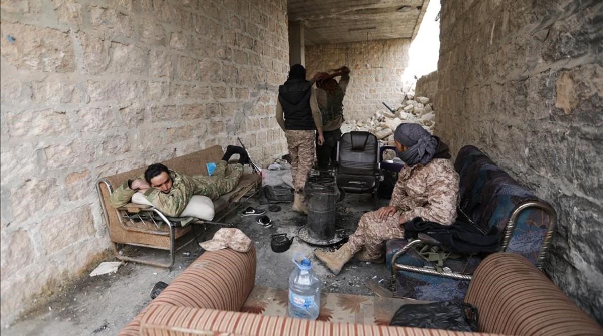 Combatientes del Ejército Libre Sirio.