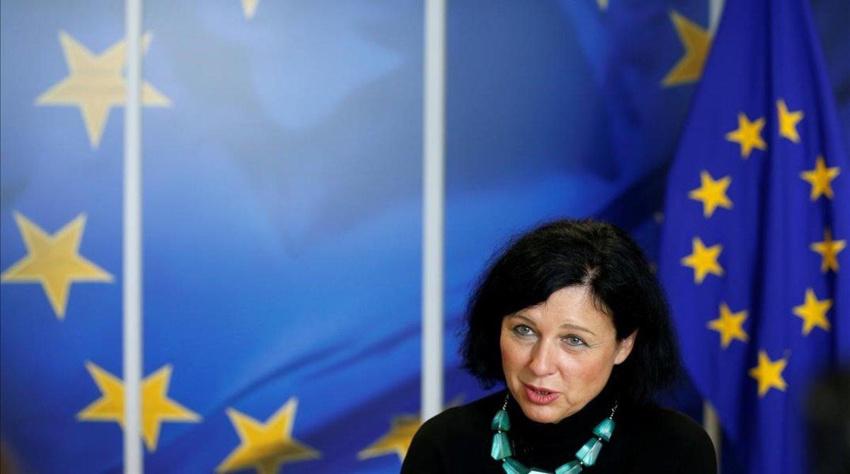La comisaria europea de Justicia, Vera Jourová.