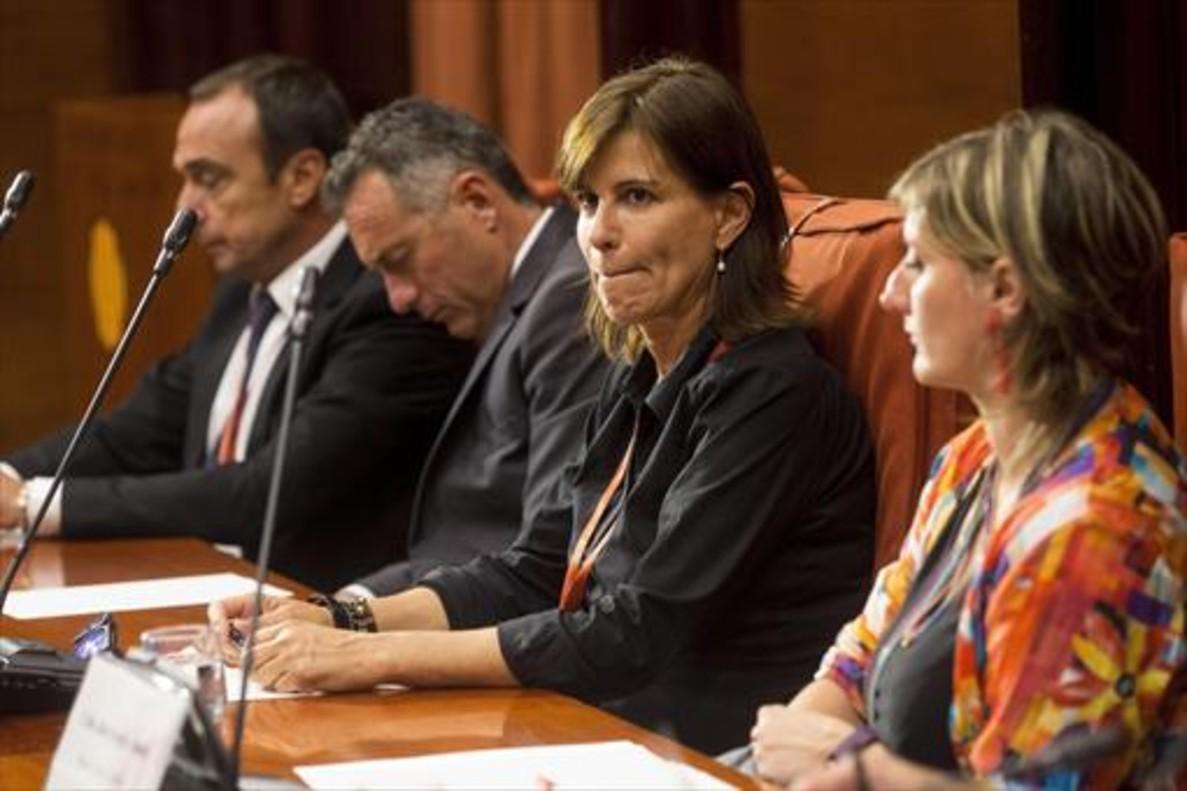 Victoria Álvarez, durante su comparecencia en la comisión de la operación Cataluña del Parlament.