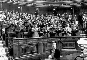 El Congreso aprueba la Constitución, en 1978.