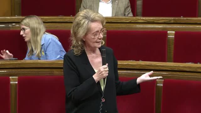 La 'consellera' de Cultura defiende que el catalán es la lengua propia de la cámara.