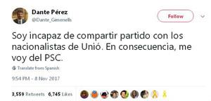 Dante Pérez, alcalde de Gimenells, ficha por el PP el día después de dejar el PSC
