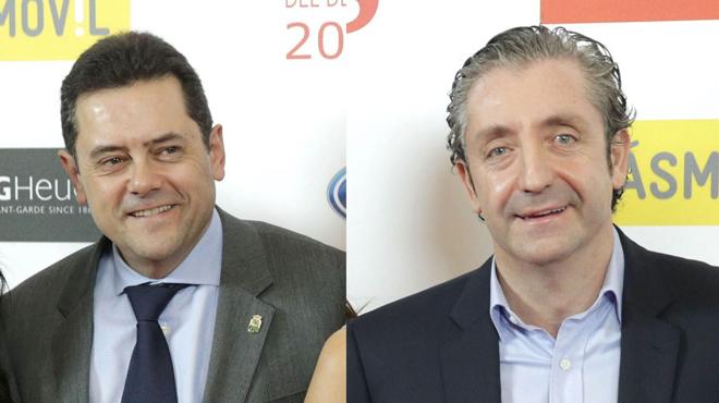 Josep Pedrerol corrige a Tomás Roncero, en El Chiringuito de jugones, de Mega.