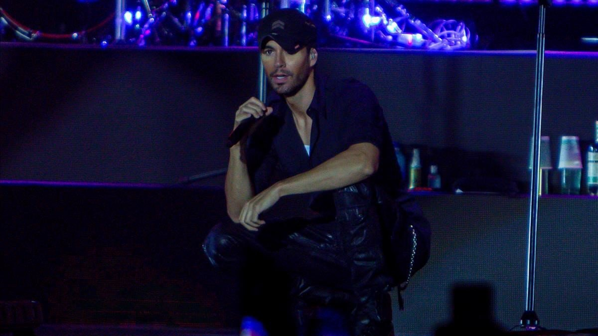 Enrique Iglesias, en su concierto en el WiZink Center de Madrid.