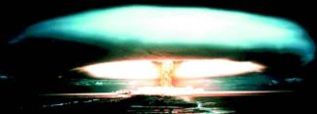 Un ensayo nuclear francés en el atolón de Mururoa, en septiembre de 1971.