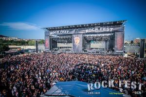 Escenario del Rock Fest en Can Zam.