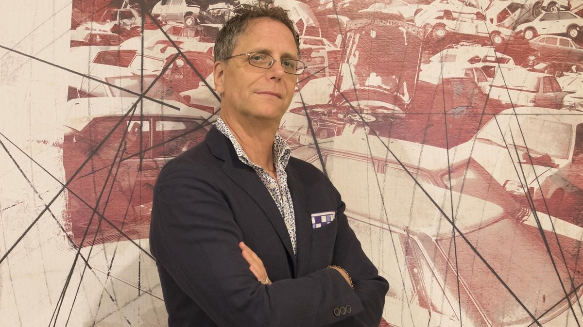 El escritor norteamericano Michael Frank, en su visita a Barcelona.