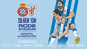 Cartel de promoción del Espanyol-Athletic.