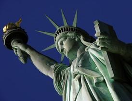 La Estatua de la Libertad, a la entrada de Nueva York.