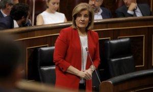 Fátima Báñez, en el Congreso de los Diputados, en septiembre del 2017.
