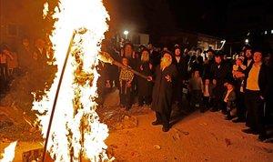 Fiesta religiosa ultraortodoxa del Lag Baomer en Jerusalén.