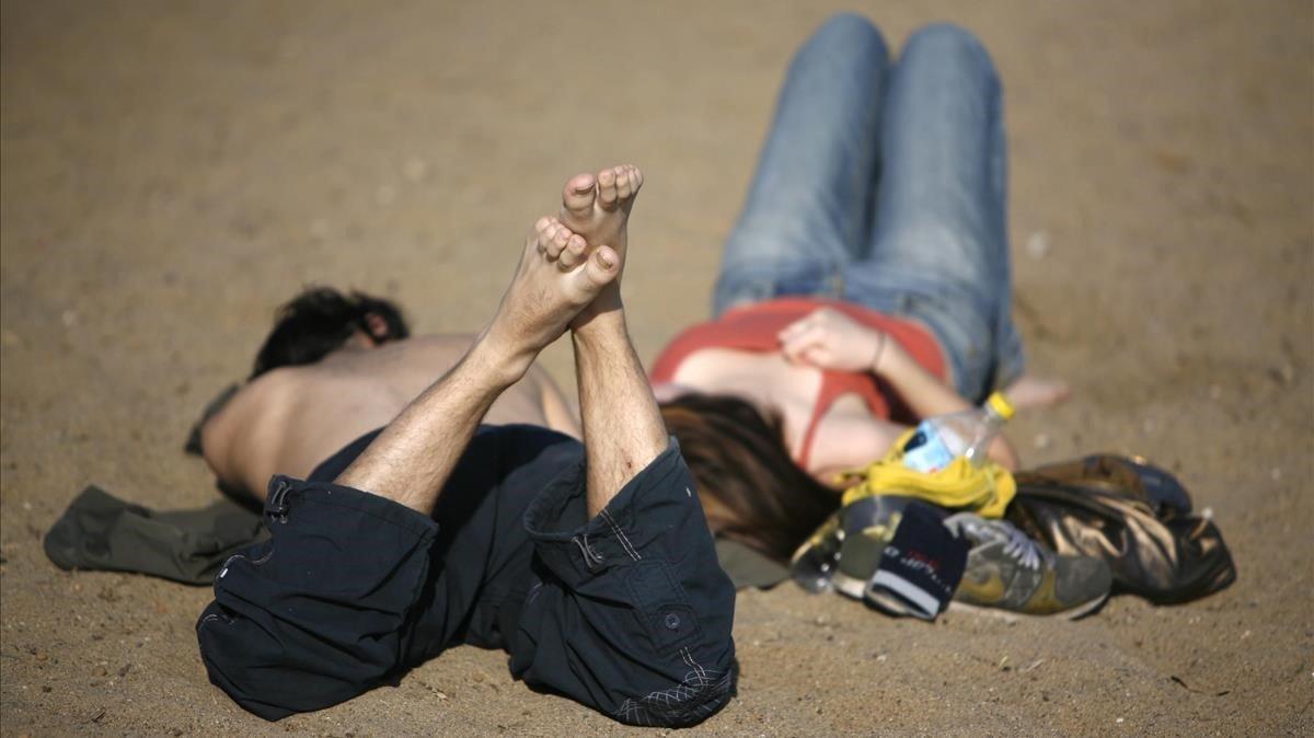 Imagen de archivo de un día caluroso de enero en Barcelona