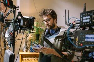 Dani de la Orden durante el rodaje del filme.