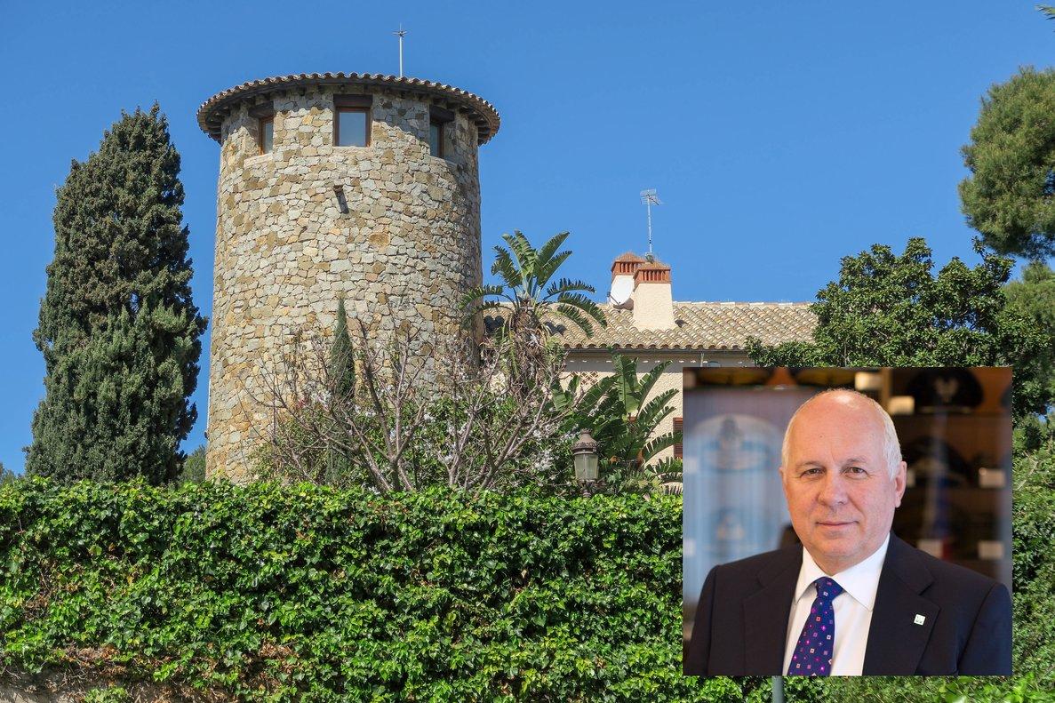 Chemezov y la propiedad en S'Agaró comprada por su hijastra.