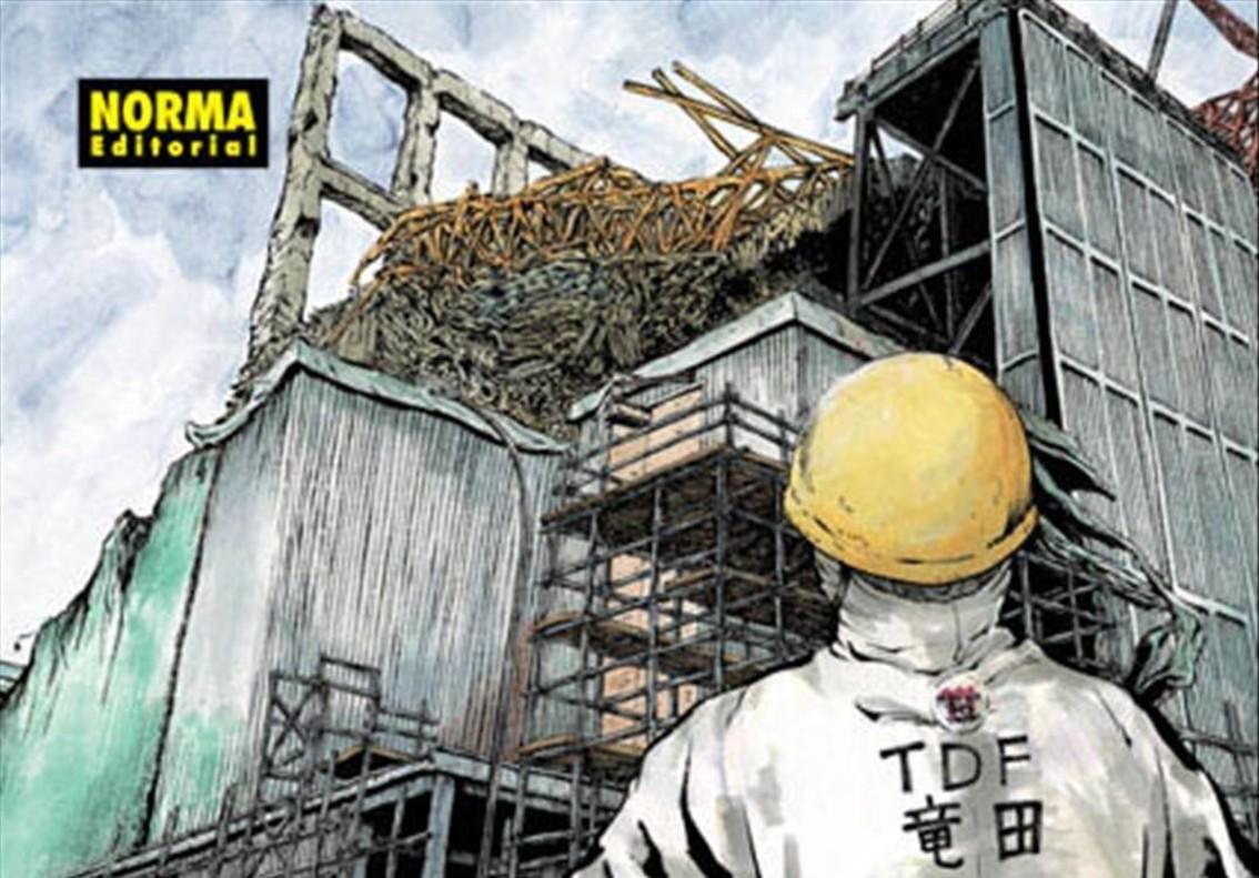 Fragmento de la portadadel manga 'Ichi Efu', de Kazuto Tatsuta, sobre su experiencia como trabajador en Fukushima tras el tsunami.