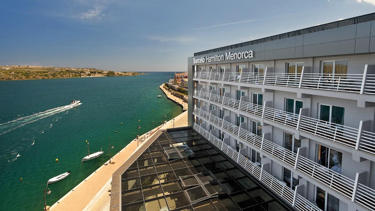 Imagen del hotel Hamilton Barceló, del grupo Hispania,en Mahón (Menorca).