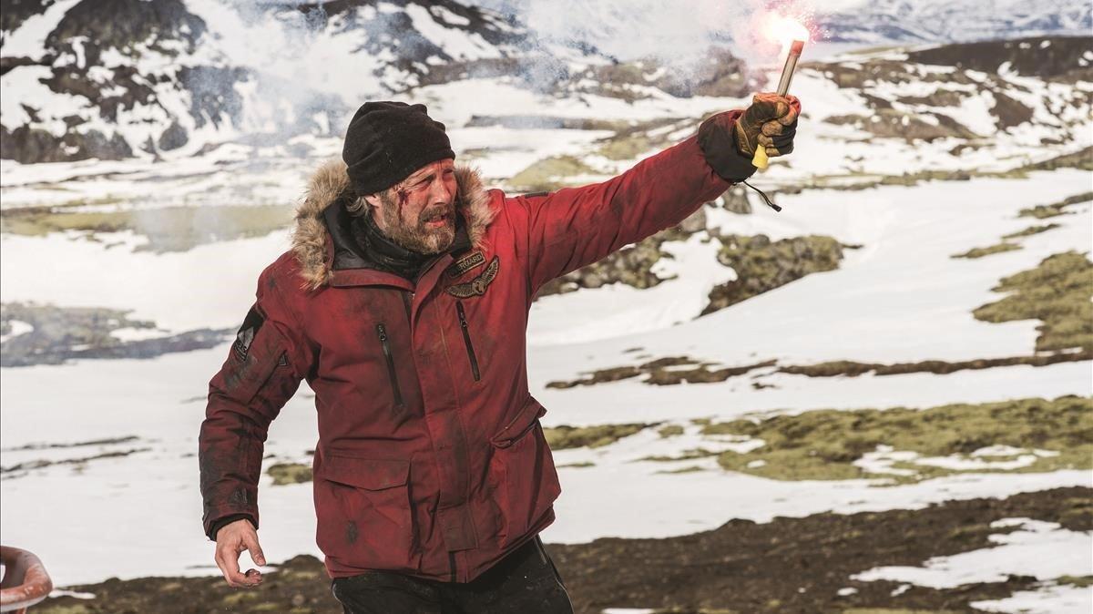 Mads Mikkelsen en su nueva película,'Ártico'.