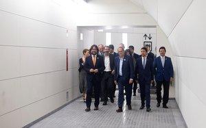Inauguración del nuevo andén de la estación de Provença de FGC.