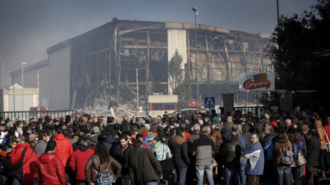 El incendio en la fábrica de Campofrío